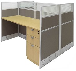 "60""W x 49""D x 48""H Value Series Double Starter Cubicle"