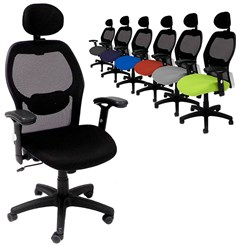 Ergonomic Black Mesh Back Ultra Office Chair with Headrest