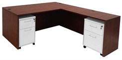 Cherry Executive L-Desk w/Desk Height Return