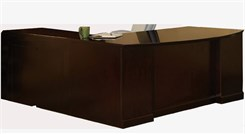 "72""W Executive ""L"" Bow Front Desk with Right Return - PBF/PBF"