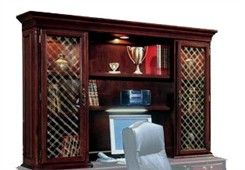 Executive Overhead Storage Hutch w/Wire Mesh Doors