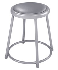 "Fixed Height Heavy-Duty Padded Lab Stool - 18""H Lab Stool - 300-lb Weight Capacity"