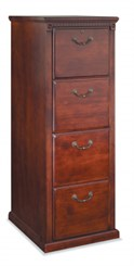 Cherry Four Drawer Vertical File