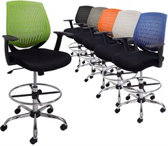 "GeoFlex Ergonomic Office Stool w/23""-30"" Seat Height"