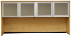 Maple Glass Door Hutch