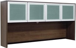 Modern Walnut 71� Glass Door Hutch