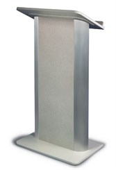 Gray Granite with Satin Anodized Aluminum Lectern