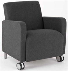 Ravenna Guest Chair w/ Casters in Standard Fabric or Vinyl