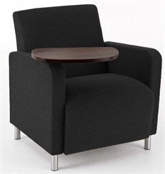 Ravenna Guest Chair w/ Swivel Tablet in Upgrade Fabric or Healthcare Vinyl
