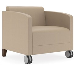 Fremont 500 lbs Guest Chair on Casters in Standard Fabric or Vinyl