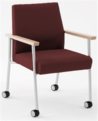 Mystic Guest Chair w/ Casters in Standard Fabric or Vinyl