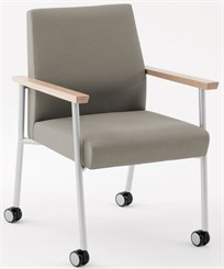 Mystic Guest Chair w/ Casters  in Upgrade Fabric or Healthcare Vinyl