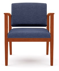 Amherst Wood Frame 400 lb Capacity Guest Chair in Standard Fabric or Vinyl