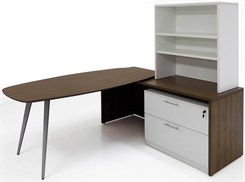 WorkTrend Half Hutch L-Workstation Desk