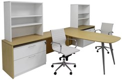 WorkTrend 2-Person Half Hutch Workstation Desk