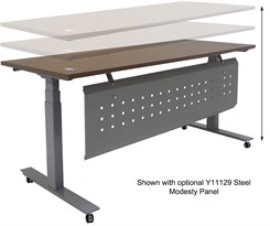 "72""W x 28""D  Mobile Electric Lift Height Adjustable Table"