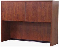 Cherry Laminate 48� 4-Door Storage Hutch for Desk Return