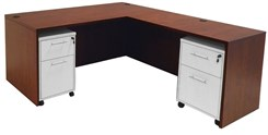 Cherry Manager's L-Desk w/Desk Height Return