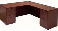 Cherry Laminate Rectangular Executive L-Desk