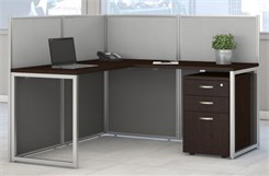 Single L-Shaped Cubicle w/File