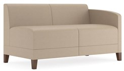 Fremont 500 lbs Left Arm Loveseat in Standard Fabric or Vinyl