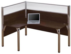 Left L-Shaped Cubicle Workstation w/ Windows