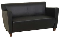 Office Star SL8472 Leather Love Seat