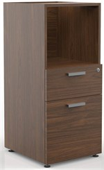Locking Box/File/Open Storage Unit for Custom Classic Standing Height Reception Desks