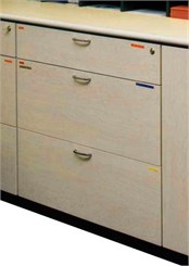Custom Locking 3-Drawer Cabinet