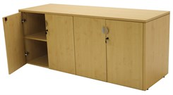 Maple 4-Door Locking Storage Credenza