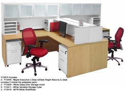 Structures Maple & White 2-Person Shared Workstation