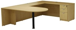 Maple Peninsula U-Shaped Workstation