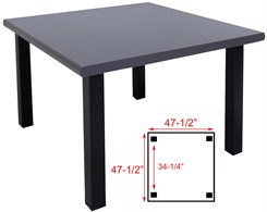 Seated Height 4' Square Conference/Meeting Table in Weathered Gray