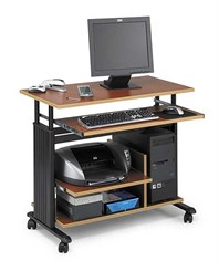 Mini Tower Adjustable Height Computer Workstation