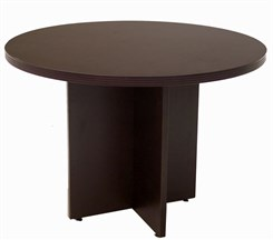 "42"" Round Mocha Laminate Conference Table"