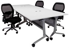 "Modular Flip & Stow Conference Table.  48"" x 120"" Size - See Other Sizes Below"