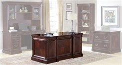 "Mount View Cherry Traditional Furniture - 60""W Double Pedestal Desk"