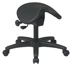 "Saddle Seat  Stool w/ 19""-24"" Height"