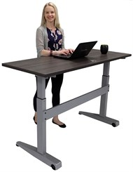 "Pneumatic Height Adjustable Mobile Table - 60""x 24"".  See Other Sizes Below"