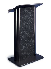 Pyrenees Marble with Black Anodized Aluminum Lectern
