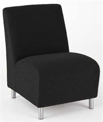 Ravenna Armless Guest Chair in Upgrade Fabric or Healthcare Vinyl