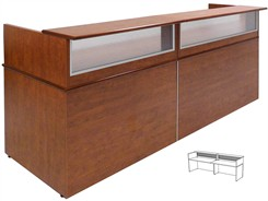 10' Wide Custom Linear Reception Desk