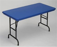 "24"" x 48"" Resin Folding Table in 6 Colors - Other Sizes Available."