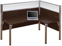 Right L-Shaped Cubicle Workstation w/ Windows