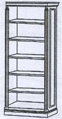 Right Hand Bookcase