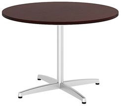 "42"" Quickship Round Table w/Silver X Base"