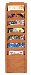 Seven Pocket Magazine Rack