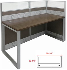 TrendSpaces Premium Single Open End Cubicle