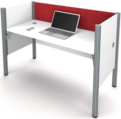 White Single Cubicle Workstation