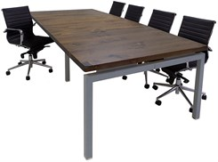 Solid Wood Top Parsons Leg Conference Table - 9' Length - See Other Sizes Below